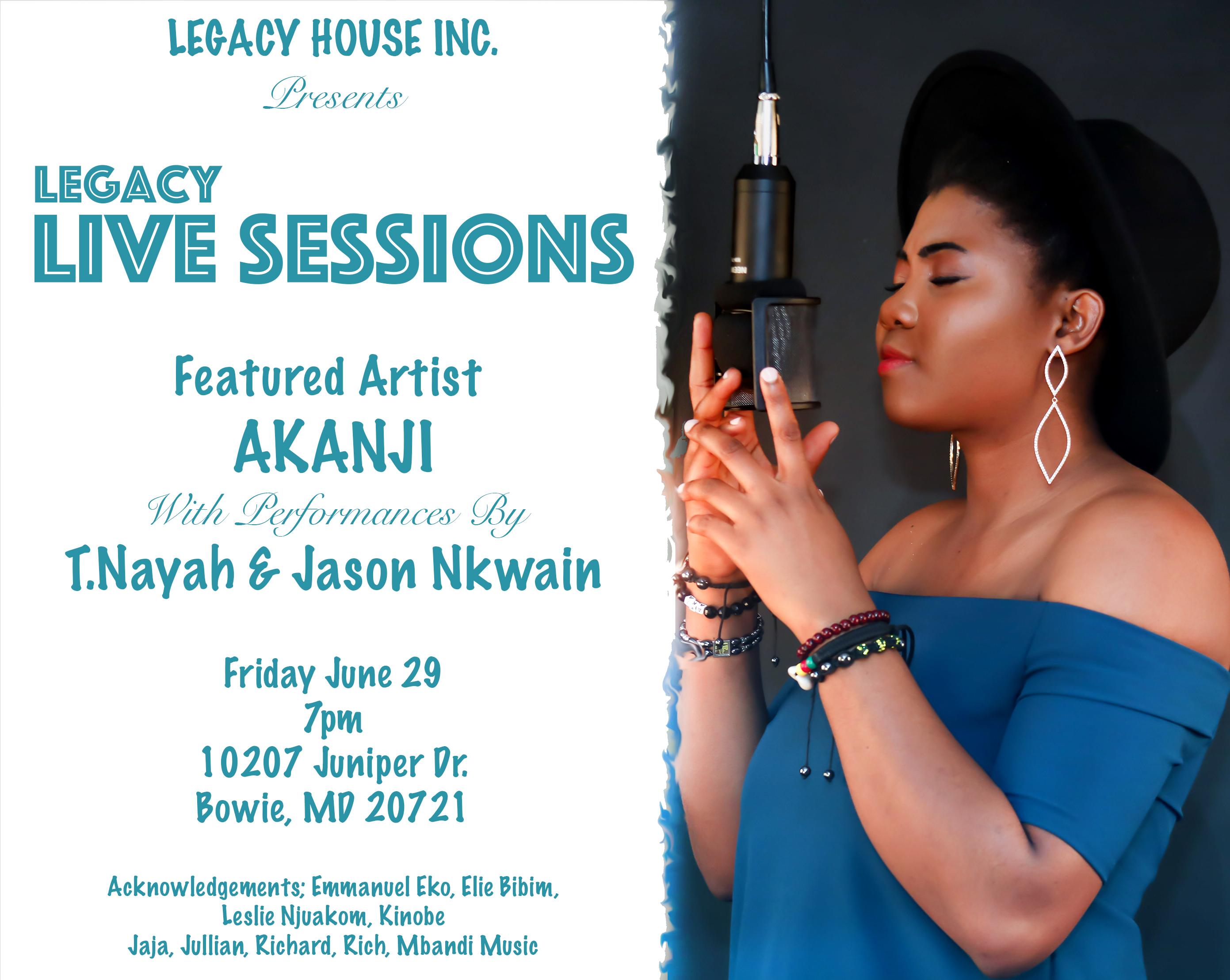 Legacy Live Session; Debut Single